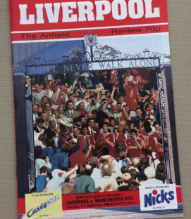 Liverpool Manchester United 1988 Program