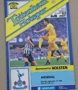 Tottenham Arsenal 1988 Program