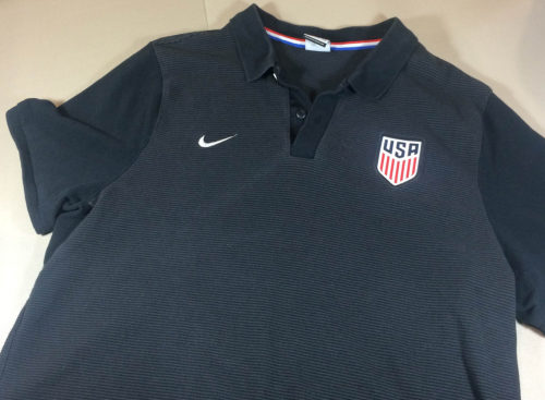 US Soccer Striped Polo