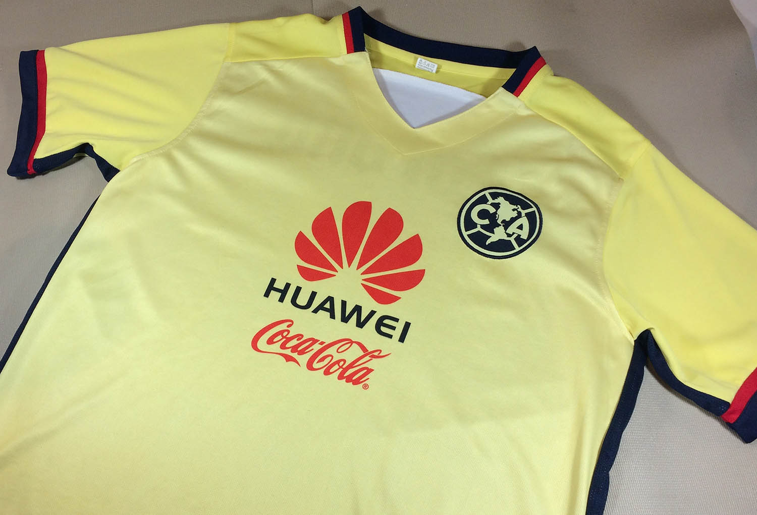 best service 88b70 193d6 Club America Huawei Yellow Jersey